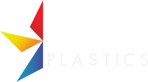 Star Plastics logo in white